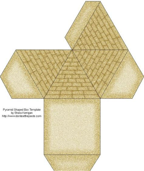 Pyramid Papercraft - paper pyramid template search museum mania