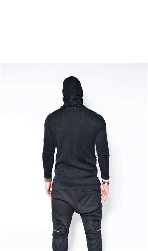Sweater Hoodie Zipper Urbex Import Quality Yomerch Must edge faux thick poodle fur contrast mens slim fit turtle neck tshirt guylook ebay