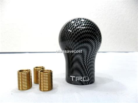 trd style carbon fiber look gear shift knob for all manual