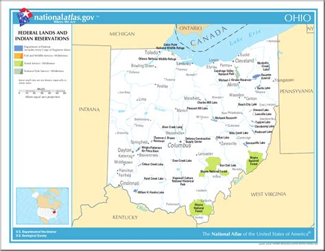 indian reservations usa map map of ohio map of federal lands and indian reservations