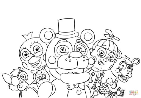 five nights at freddy s coloring book for and adults activity book books five nights at freddy s all characters coloring page