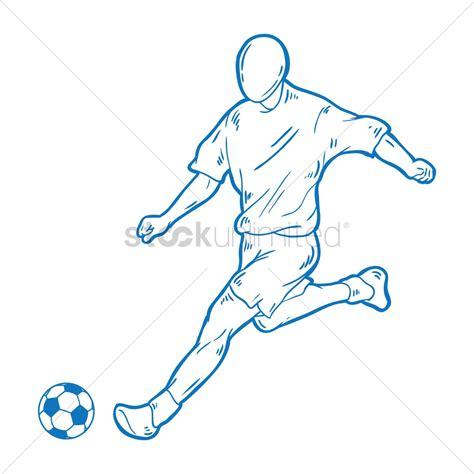 Soccer Kicking Net free soccer player kicking vector image 1427220