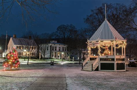 berkshire lighting new milford connecticut new milford green christmas morning photograph by