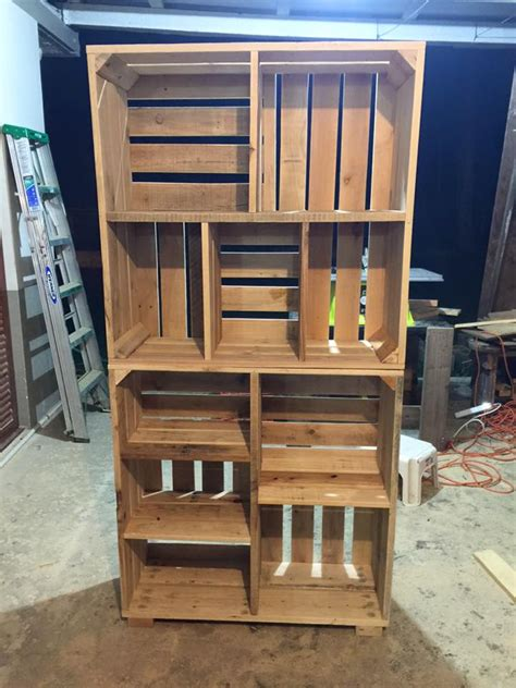 adorable pallets wood crate shelves wood crate shelves