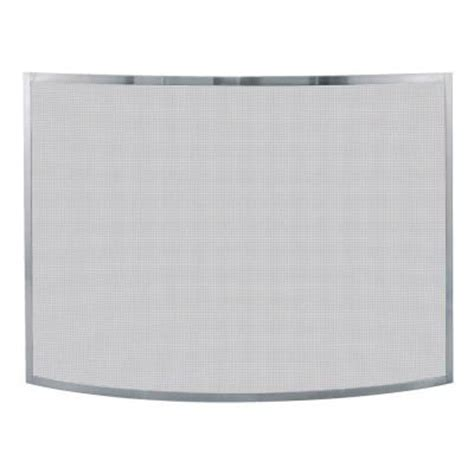 fireplace screen home depot uniflame curved pewter single panel fireplace screen s 1613 the home depot