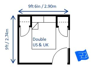 Minimum Dimensions For A Bedroom by Bedroom Size