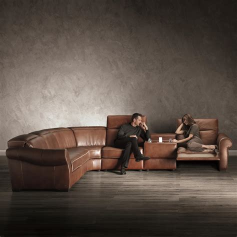 natuzzi leather sectionals with recliners b751 transitional reclining sectional with storage console