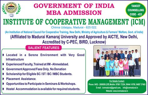 Mba Cooperatives by Institute Of Co Operative Management