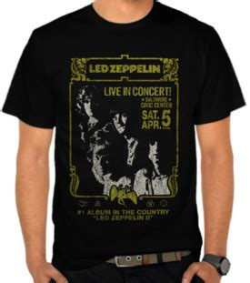Kaos Musik Kaos Band Led Zeppelin 14 jual kaos led zeppelin baltimore civic center led
