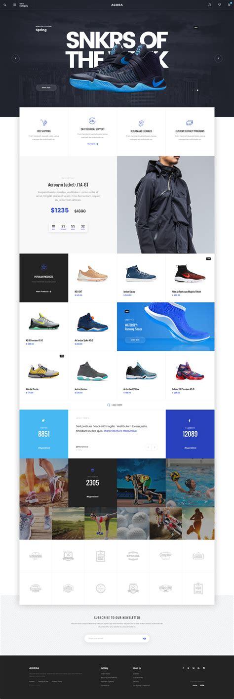 grid layout website inspiration agora ecommerce on inspirationde