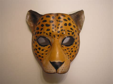 Masker Animal leather animal masks cat mask
