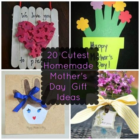 Sweet Gifts To Make For Mothers Day by 20 Of The Cutest S Day Gift Ideas