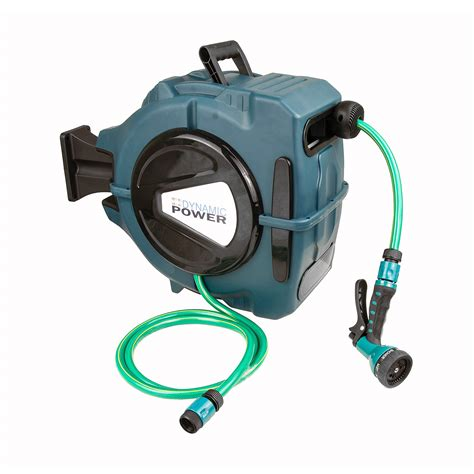 retractable garden hose reel wall mount 20m retractable auto rewind water hose reel home garden