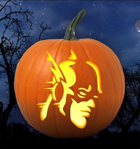 super hero flash pumpkin carving pattern stencil