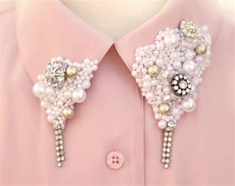 pearl diy embellished collar diy the yesstylist asian fashion