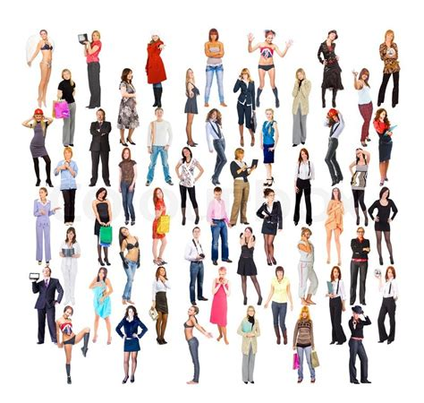 lots the diversity of a lot of people isolated diversity stock photo colourbox
