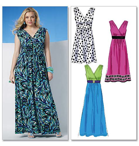 ladies dress pattern design mccall s 6073 misses women s dress in 3 lengths