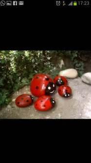 ladybug roks for garden decor crafts