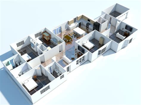 interior 3d floor plan 3d floorplans visuals