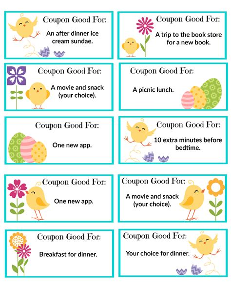 printable easter tickets free printable easter coupons bear hugs and blanket forts