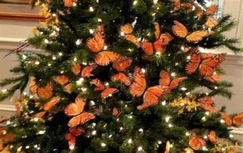 which british monache introduced the christmas tree to uk chic 12 orange monarch butterfly ornament decorations floral tree wreaths centerpiece
