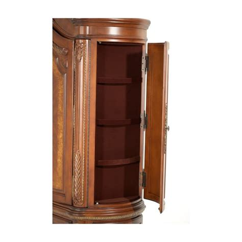 aico armoire aico michael amini cortina armoire in honey walnut finish