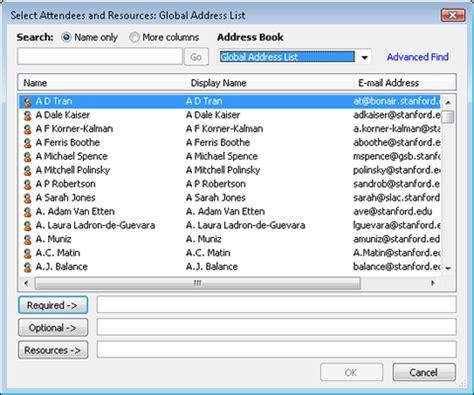 Global Address Finder Global Address List