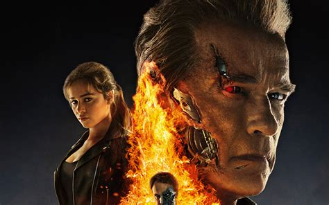 Arnold Terminator Wallpapers by Wallpaper Terminator Genisys Emilia Clarke Arnold