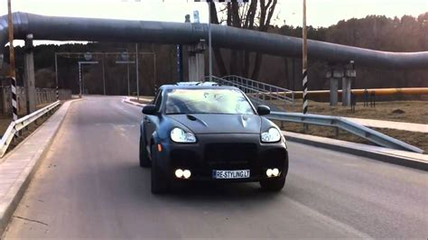 Porsche Cayenne Schwarz Matt by Porsche Cayenne Black Matte Vinyl Wrapping Re Styling Lt