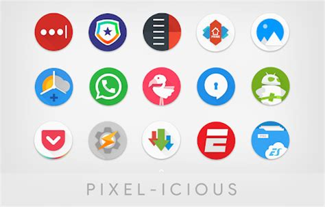 pixelicious icon pack app report on mobile action app