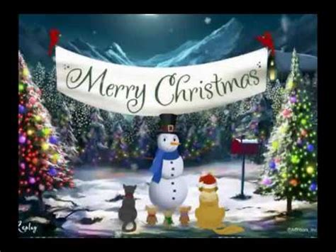merry christmas video card greeting youtube