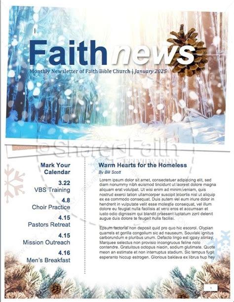 winter newsletter templates light of the world newsletter template