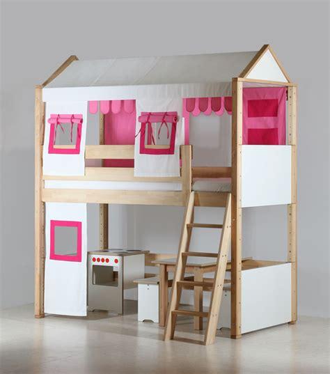 lit mezzanine bureau fille le lit mezzanine enfant pour les petites filles par de