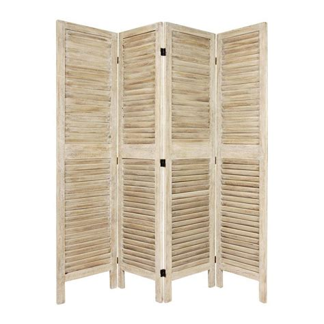 Privacy Screen Room Divider Shop Furniture Room Dividers 4 Panel Burnt White Folding Indoor Privacy Screen At Lowes