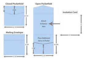invitation card size for pocketfold invitations lci paper