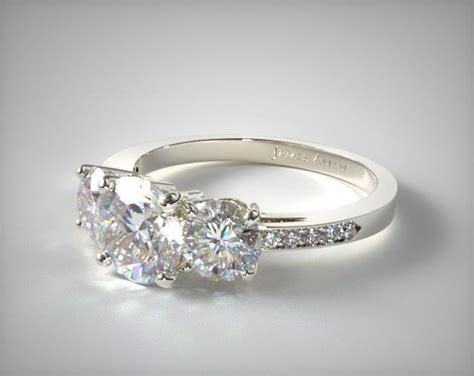 17135w three and pave set engagement