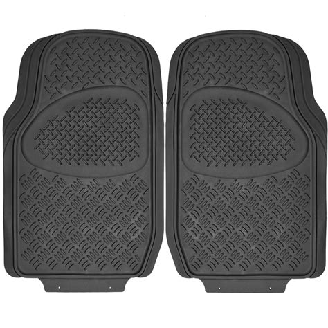4pc full all weather heavy duty rubber black suv floor mat