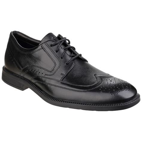 rockport dressports modern wingtip lace up s black