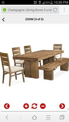 macy s kitchen table with bench chagne dining room furniture 6 set dining