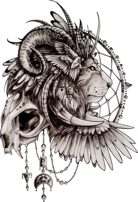 lion with wings tattoo 82 design sketches
