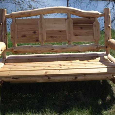 cedar log benches benches chairs handcrafted log handmade cedar log park bench by i saw it in minnesota custommade com
