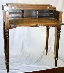 vintage writing desk 100222 antique walnut spinet writing desk c 1900 lot