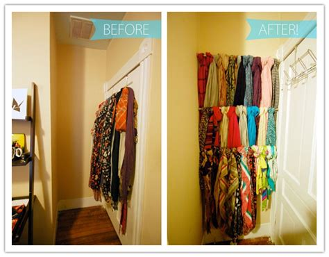 how to make streamlined bars to increase scarf storage