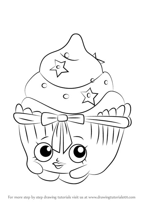 patty cake coloring page learn how to draw patty cake from shopkins shopkins step