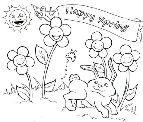 free coloring pages pages spring coloring pages you