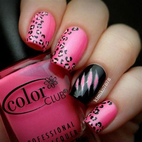 50 beautiful pink and black nail designs 2017