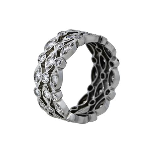 swing rings tiffany co platinum diamond swing ring eternity band
