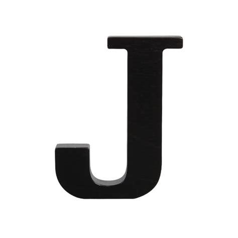 Wooden letter J, black