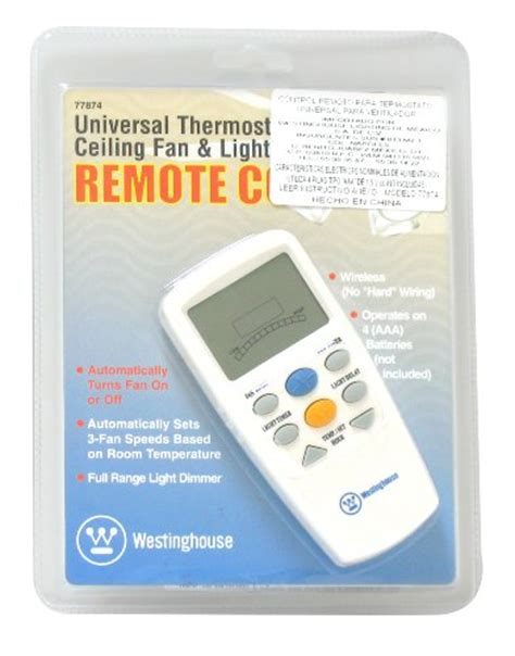 thermostat controlled ceiling fan westinghouse 7787400 thermostat ceiling fan and light