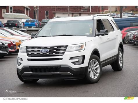 2017 white ford explorer 2016 oxford white ford explorer xlt 110472949 gtcarlot